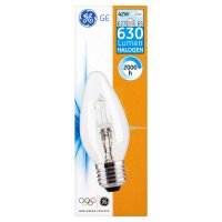 GE halogen candle clear 42W E27 ES