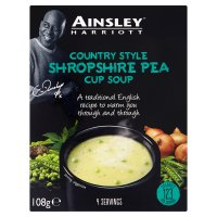 Ainsley Harriott Shropshire pea cup soup, 4 servings