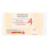 essential Waitrose 30% Lighter Mature Cheddar Strength 4