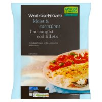 Waitrose Frozen MSC line caught cod fillets