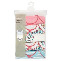 Waitrose 5 PK GIRLS BODYSUIT-ALLOTMENT 0-