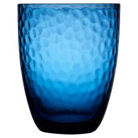 Waitrose Dimple Glass Tumbler Blue