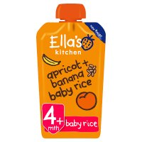 Ella's Kitchen Organic bananas apricots + baby rice - stage 1 baby food