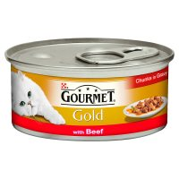 Gourmet Gold Chunks in Gravy with Beef