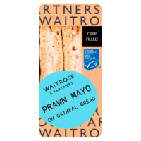 Waitrose deep fill prawn mayo sandwich