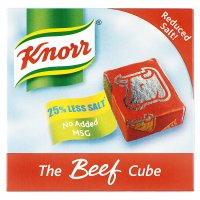 Knorr beef reduced salt 6 pack stock cubes