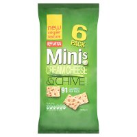 Ryvita cream cheese & chive minis