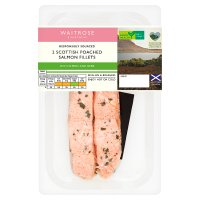 Waitrose lemon herb poached Scottish salmon fillets