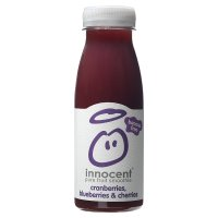 Innocent cranberries, blueberries,cherries smoothie