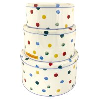 Emma Bridgewater polka dot cake tins set of 3