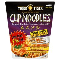 Tiger cup noodles satay style