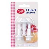 Tala heart plunger cutters, set of 3