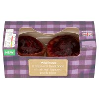 Waitrose 2 Beetroot Chutney pork pies