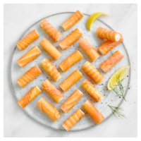 Waitrose smoked salmon rolls