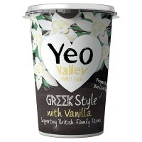 Yeo Valley organic Greek style with vanilla yogurt