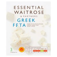 Essential Waitrose Feta Greek 200g (medium)