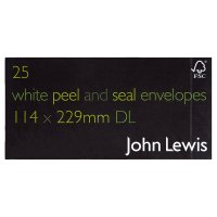 John Lewis white peel & seal envelopes