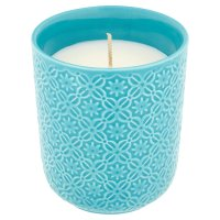 Waitrose Home Candle Blue Lotus
