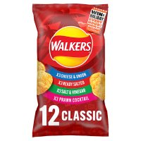 Walkers classic variety multipack crisps