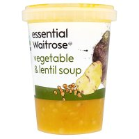 essential Waitrose vegetable & lentil soup