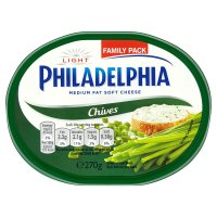 Philadelphia Light with chives soft white cheese