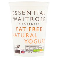 essential Waitrose fat free natural yogurt