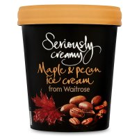 Waitrose Seriously maple & pecan ice cream