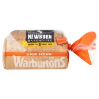 Warburtons gluten & wheat free sliced brown bread