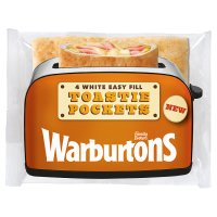 Warburtons White Easy Fill Toastie Pockets