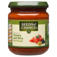 Seeds of Change organic tomato & olive stir through sauce