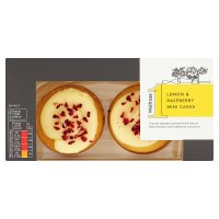 Waitrose 1 lemon & raspberry mini cakes