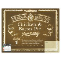 Waitrose chicken & bacon pie