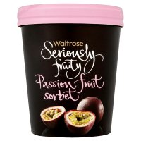 Seriously fruity passionfruit sorbet