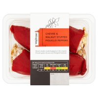 Waitrose 1 Chevre & Walnut Stuffed Peppers
