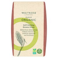 Waitrose Duchy Organic self raising brown flour