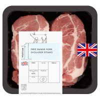 Waitrose 1 free range pork shoulder steaks