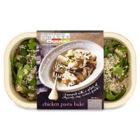 menu from Waitrose chicken pasta bake