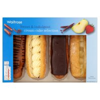 Waitrose cream cake selection
