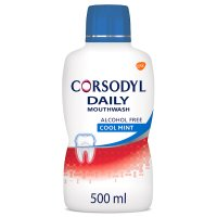 Corsodyl daily defence alcohol free mint mouthwash