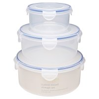 Waitrose Cooking 3 Piece Round Storage Set