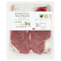 Waitrose British lamb leg steaks