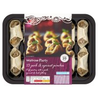 Waitrose Party 12 pork & apricot pastry pinches