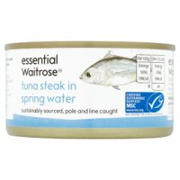 essential Waitrose MSC tuna steak in spring water