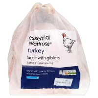 essential Waitrose frozen turkey large with giblets