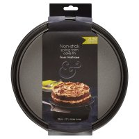 from Waitrose 25cm (10) non-stick loose base spring form cake tin