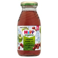 Hipp Organic mineral water with red grape juice
