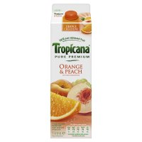 Tropicana juice orange & peach