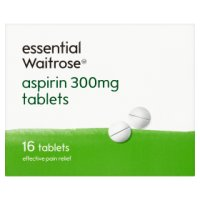 essential Waitrose aspirin 300mg
