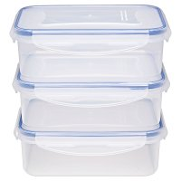 Waitrose Cooking 3 Piece 1litre Storage Set