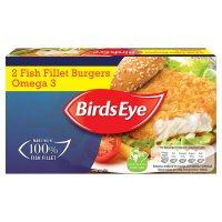 Birds Eye 2 cod fish fillet burgers